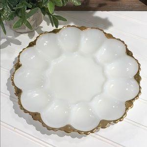 Vintage egg plate